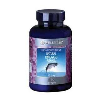 Wellness fish oil omega 3 isi 75pcs