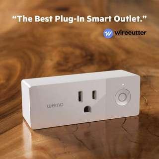 (In-Stock) Wemo Mini Smart Plug, WiFi Enabled, Works with Alexa, Google Assistant & Apple HomeKit