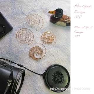 Trendy Spiral earringd