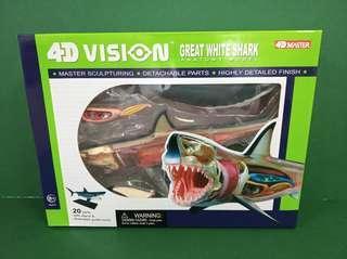 4D Master 4D Vision Great White Shark 立體 透視 大白鯊 仿鯊魚標本擺設