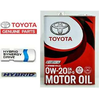 TOYOTA 0w20 Engine Oil Hybrid  4L
