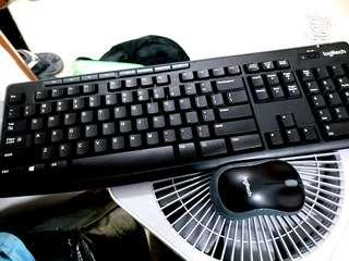 Logitech Keyboard and Mouse Set
