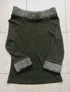 (BN)Wool long sleeve top