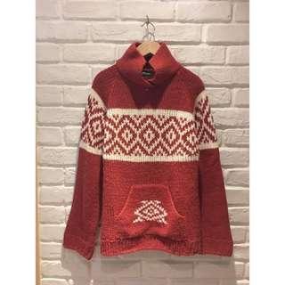 🚚 朵拉媽咪 ❤️【二手】專櫃品牌 歐美 正品 BENETTON  粗毛線 粗針織 美式風格 毛衣 羊毛 義大利製 毛線衣