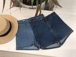 Denim Dark Blue Shorts