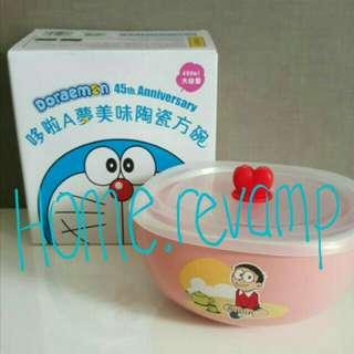 ❄Brand New Original Doraemon Nobita Nobi Porcelain Bowl With Lid Cover
