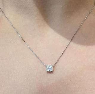 """Diamond Pendant in a 16"""" 14ct White Gold Chain"""