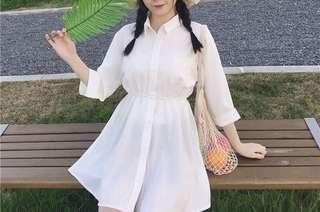 白色氣質洋裝