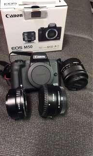 🚚 canon eos m50+kit