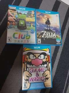 Wii U games Breath of the Wild / Sports club/ Game and Wario