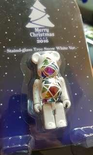 100%bearbrick 白色聖誕