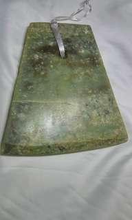 文化期青玉斧