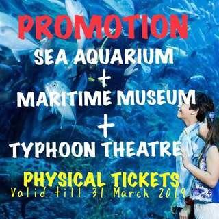 S.E.A. Aquarium+ Typhoon + Maritime Museum