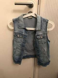 Zara Girls Denim Washed Jacket Fire Sales!!!
