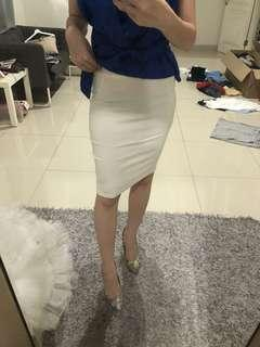 Bandage skirt white