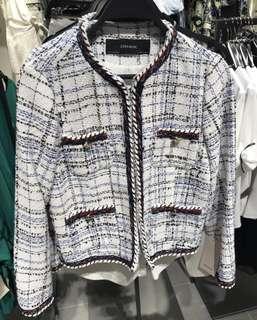 Zara tweed blazer size xs