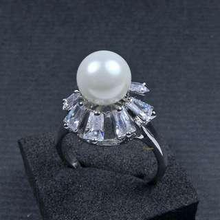 珍珠林~ORIGEM..8mm最高級南洋貝珍珠戒指 #020