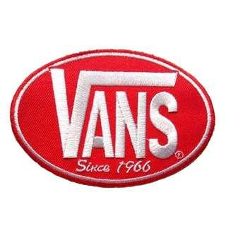 Vans Skateboard Red Iron On Patch
