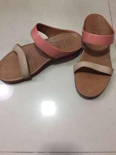 FitFlop Banda Imi-leather Slide Sandals Peach