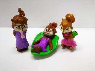 3 Pcs Chipmunks