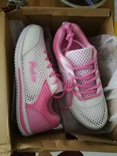 White and Pink ladies sports shoes size 38