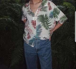 Summer Floral Print Shirt