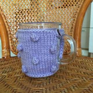 冬日熱飲良伴。手工編織馬克杯套