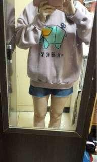 🚚 全新正韓東大門連線大象大學淡藕紫色內舖棉
