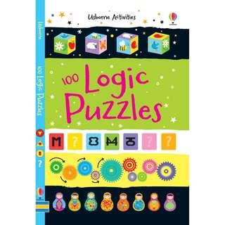 @(Brand New) 100 Logic Puzzles  [Activity and Puzzle Books]  By: Sarah Khan      For Ages: 6 - 9 years old