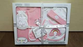 ❄Brand New With Gift Tag Unicorn Organic 6 Pieces Baby Gift Set