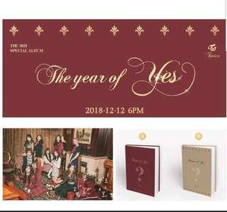 [PO + Giveaway]Twice - the year of yes ( ver A / ver B) + poster