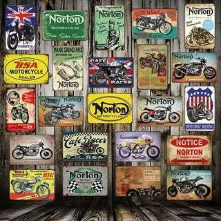NORTON Metal Sign Plaque Poster