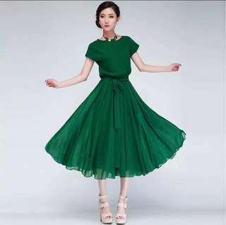 Korean chiffon dress BNIB