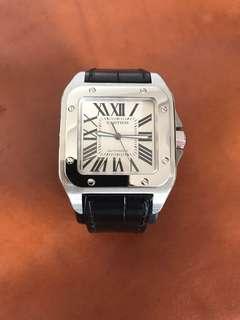 Cartier Steel Santos 100 watch