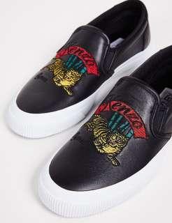 現貨❗️KENZO K-Skate JumpingTiger Sneakers 黑色牛皮經典老虎平底鞋/休閒鞋/懶人鞋