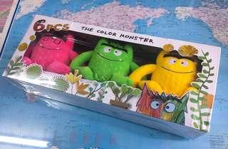 NEW~ 6 in 1 color monster doll set