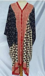 Kaftan batik motof iwan tirta motif mix
