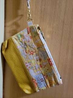 黃色蘑菇袋仔 pouch bag