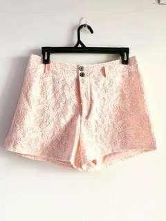Lacey pink shorts