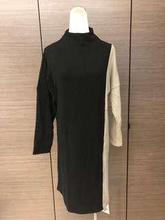 🚚 全新 針織配色休閒洋裝/XL