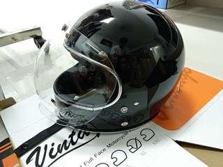 AMZ Excelor Vintage Full-faced Helmet