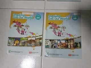 P6 Inquiring Into Our World Pr Social Studies 6A & 6B (Both for $2)*QUICK SALES!*