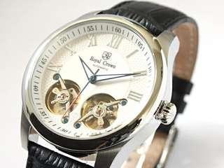 🚚 Royal Crown雙陀飛機械錶
