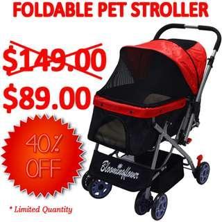 🚚 TPE065 Pet Foldable Stroller Cart Four 6 Inch Wheels  Sales