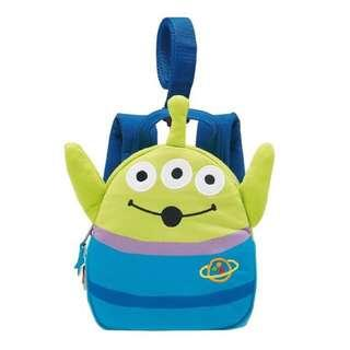 🎄聖誕禮物🎁精選🎄 日本直送 Disney Pixar Toy story Alien backpack for BABY with 反斗奇兵 三眼仔 兒童嬰兒 背囊【附有防走失帶】😸送俾小朋友最開心♥️