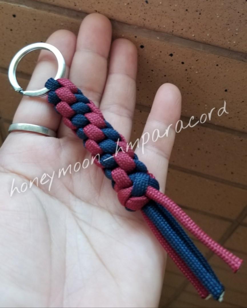 全人手製作 傘繩鎖匙扣 /背包掛飾 (十字結)