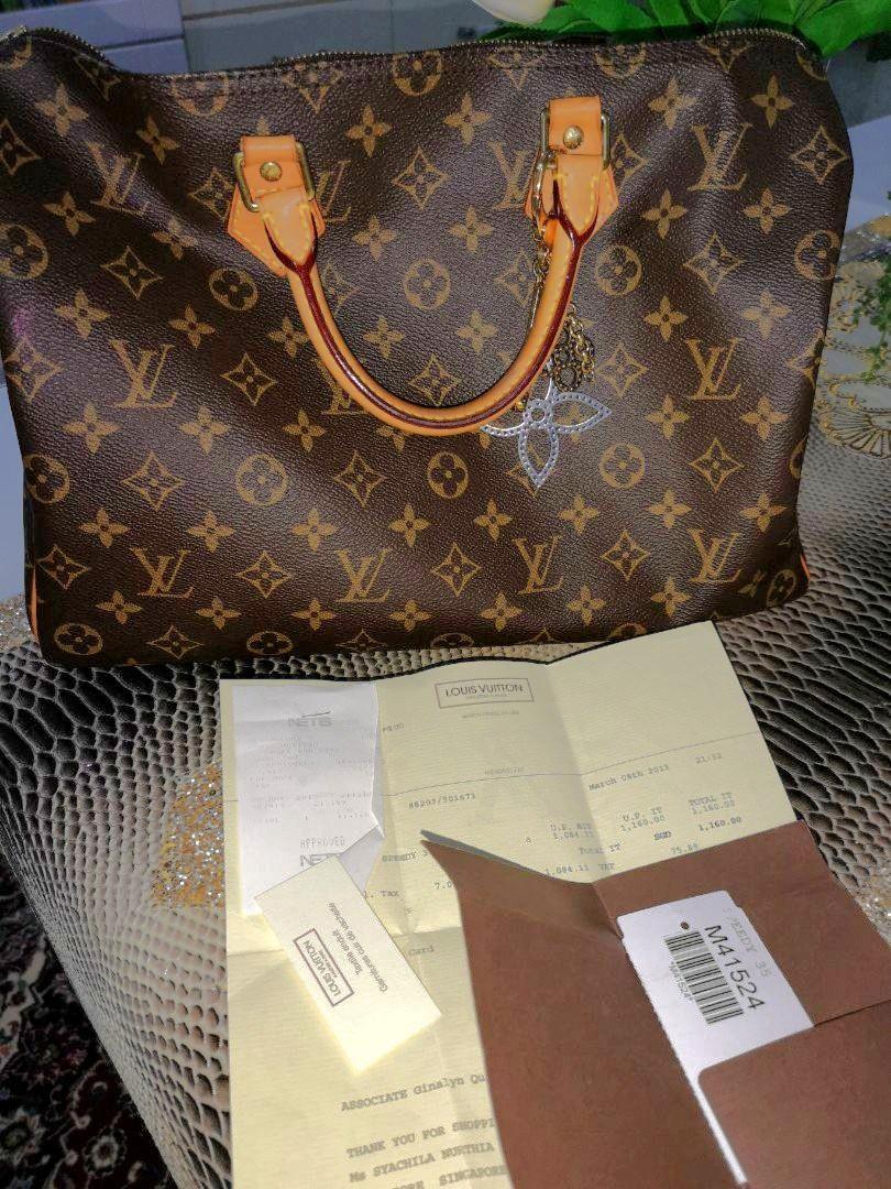 762536e21 💯 LV monogram Speedy 30, Luxury, Bags & Wallets, Handbags on Carousell