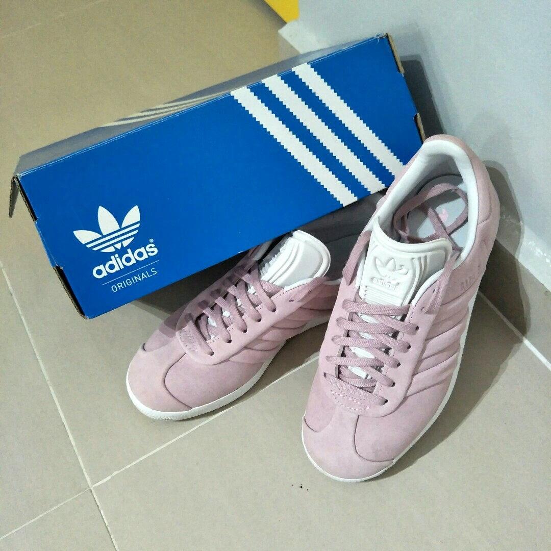 Adidas Gazelle Pink Suede Shoes 871187baa
