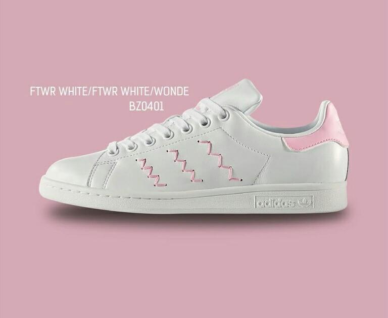 6b26eff2c78 Adidas Stan Smith w zig zag pink