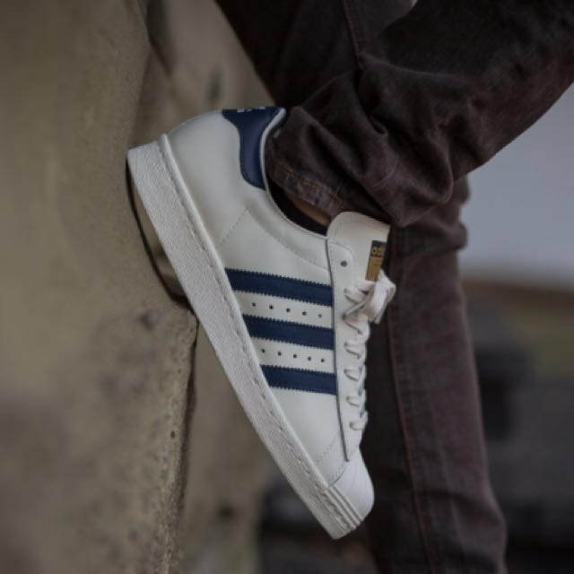 4a982b24e9a6 Adidas Superstar 80s DLX Deluxe Vintage Collegiate Navy